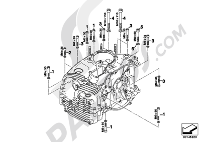 Bmw R1200GS R1200GS 2005-2007 (K25) MOUNTING POINT CRANKCASE LEFT