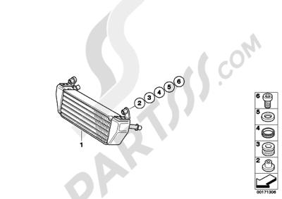 Bmw R1200GS R1200GS 2005-2007 (K25) OIL COOLER