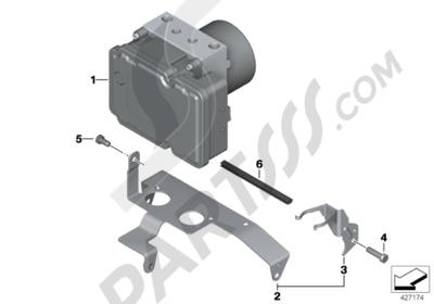 Bmw R1200GS R1200GS 2005-2007 (K25) PRESSURE MODULATOR I-ABS GENERATION 2