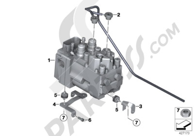 Bmw R1200GS R1200GS 2005-2007 (K25) PRESSURE MODULATOR INTEGRAL ABS