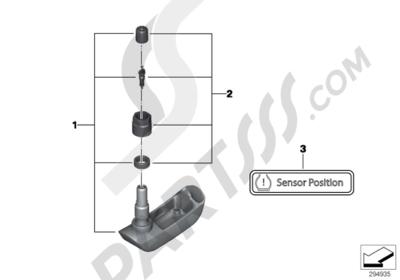 Bmw R1200GS R1200GS 2005-2007 (K25) RDC SENSOR FOR REAR WHEEL