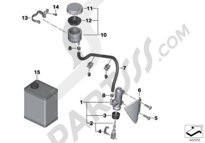 Bmw R1200GS R1200GS 2005-2007 (K25) REAR BRAKE MASTER CYLINDER W CONTAINER