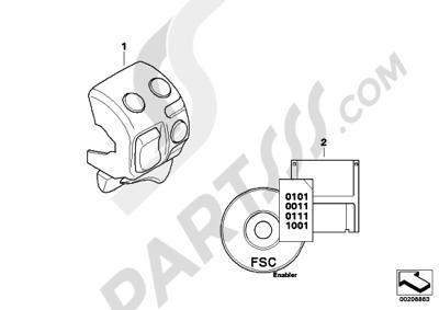 Bmw R1200GS R1200GS 2005-2007 (K25) RETROFIT ASC