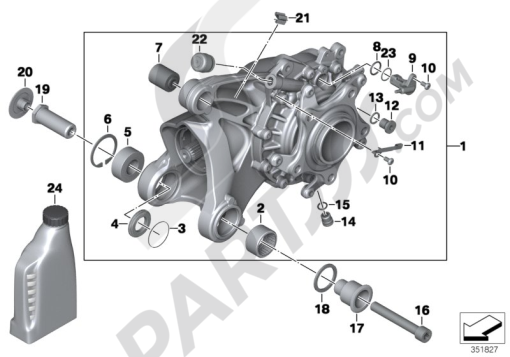 Bmw R1200GS R1200GS 2005-2007 (K25) RIGHT-ANGLE GEARBOX INTEGRAL ABS GEN. 2