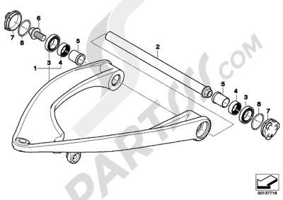Bmw R1200GS R1200GS 2005-2007 (K25) TRAILING ARM