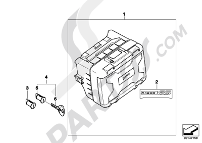 Bmw R1200GS R1200GS 2005-2007 (K25) VARIO CASE