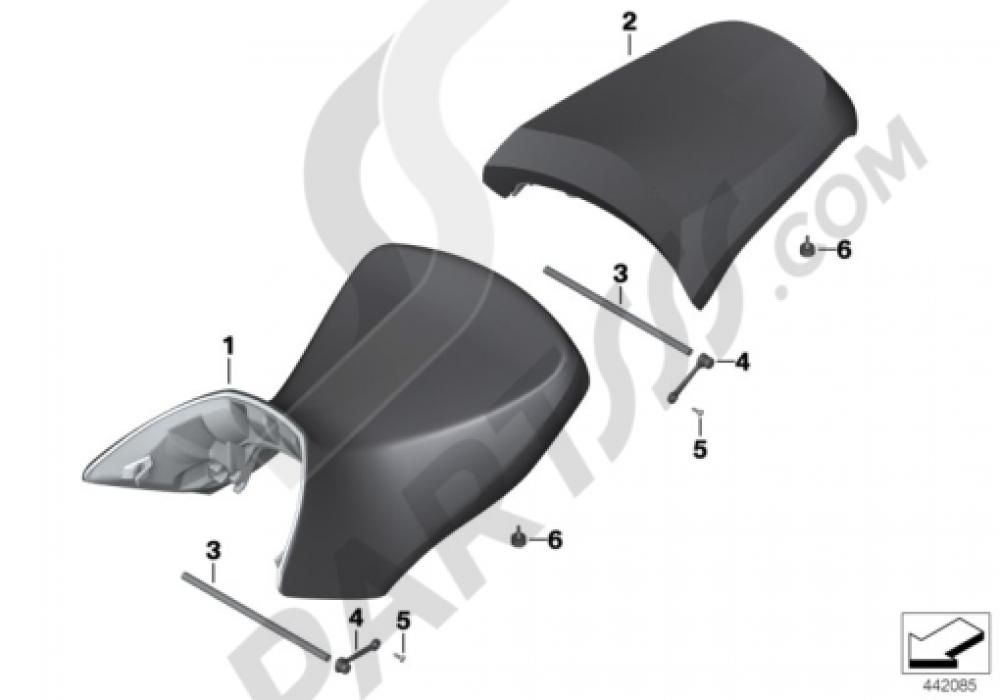 BENCH SEAT Bmw R1200GS R1200GS 2005-2007 (K25)