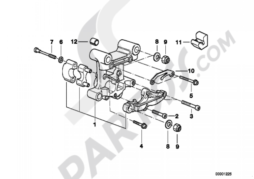 CAMSHAFT SUPPORTING BRACKET Bmw R1200GS R1200GS 2005-2007 (K25)