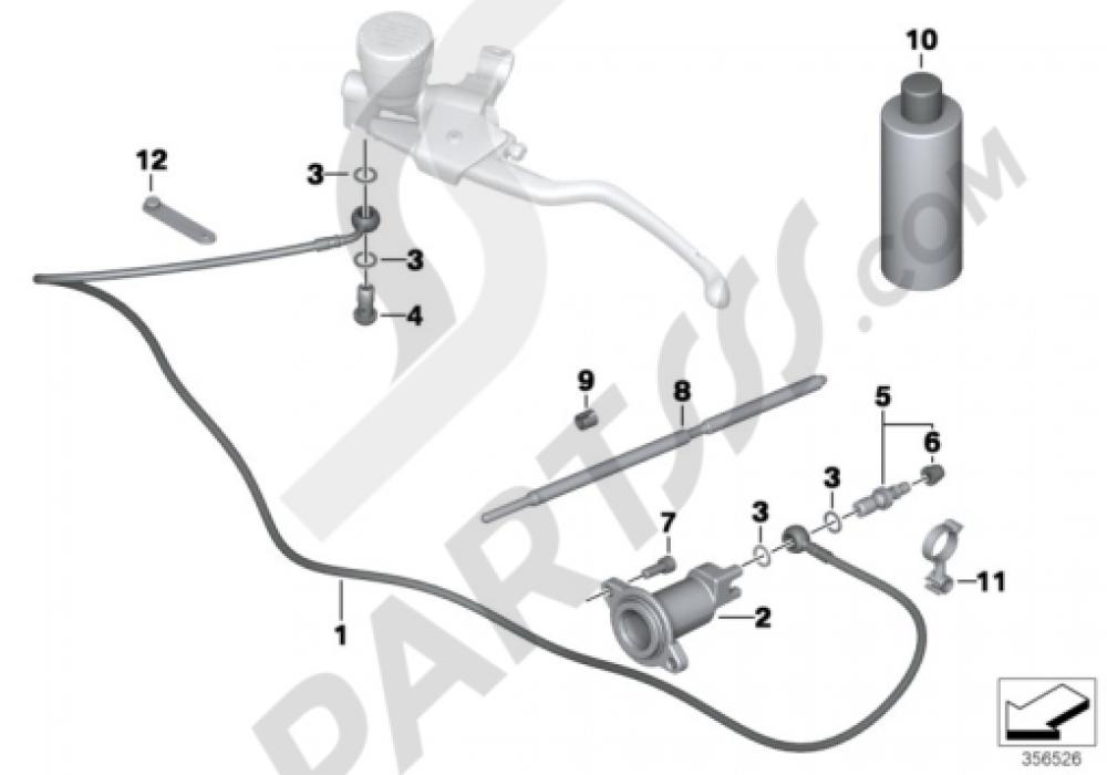 CLUTCH CONTROL Bmw R1200GS R1200GS 2005-2007 (K25)
