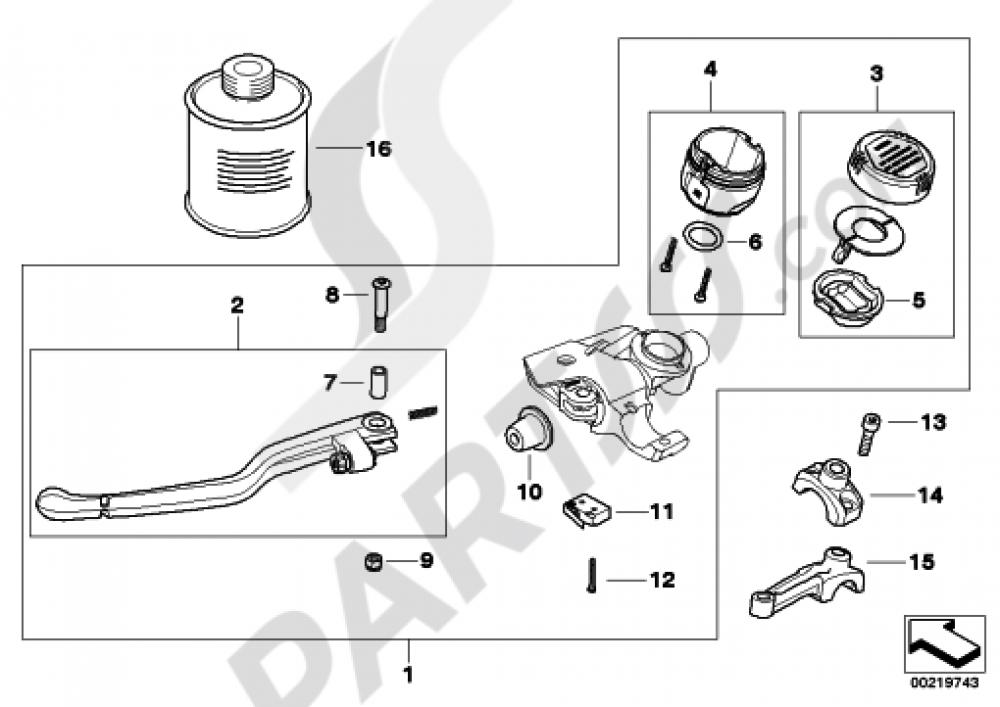 CLUTCH CONTROL ASSEMBLY Bmw R1200GS R1200GS 2005-2007 (K25)