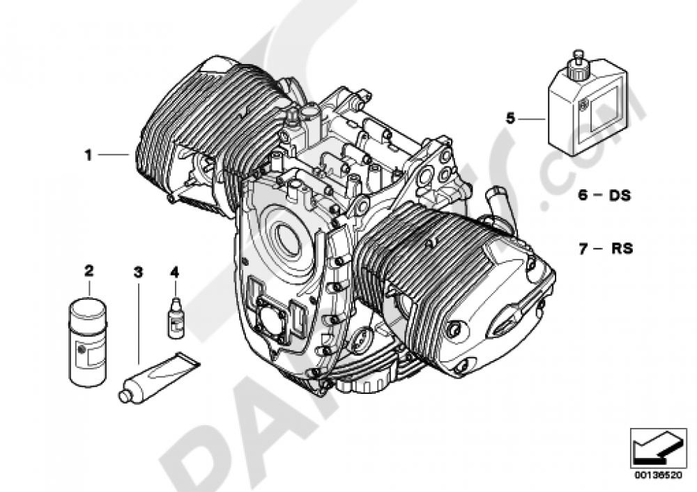 ENGINE Bmw R1200GS R1200GS 2005-2007 (K25)