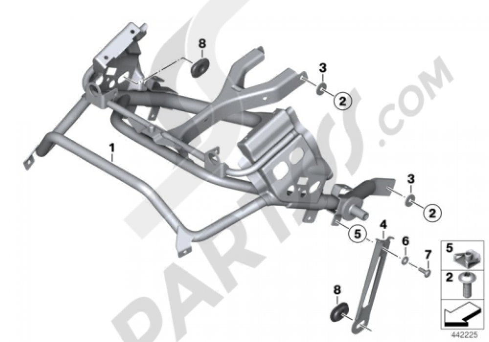 FAIRING BRACKET Bmw R1200GS R1200GS 2005-2007 (K25)