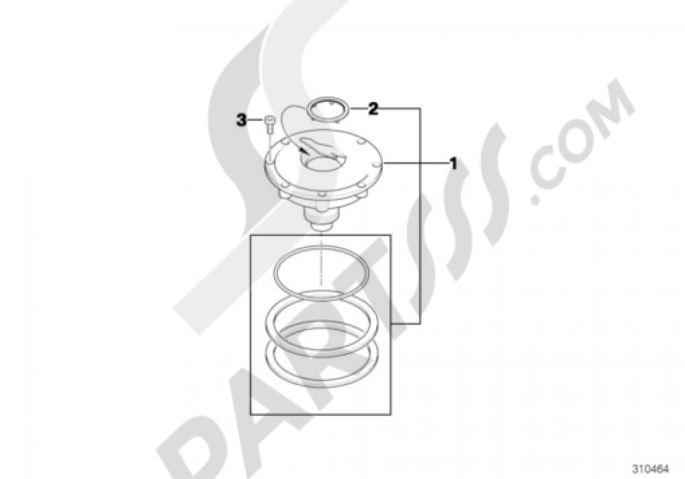 FILLER CAP Bmw R1200GS R1200GS 2005-2007 (K25)