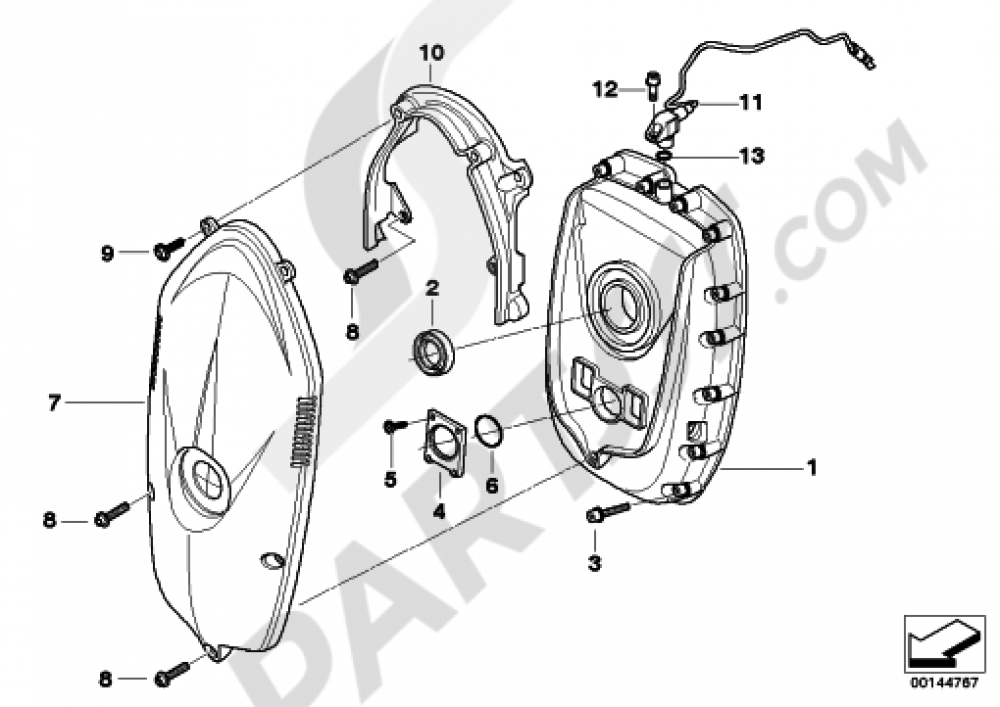 FRONT COVERTIMING CHAIN COVER Bmw R1200GS R1200GS 2005-2007 (K25)