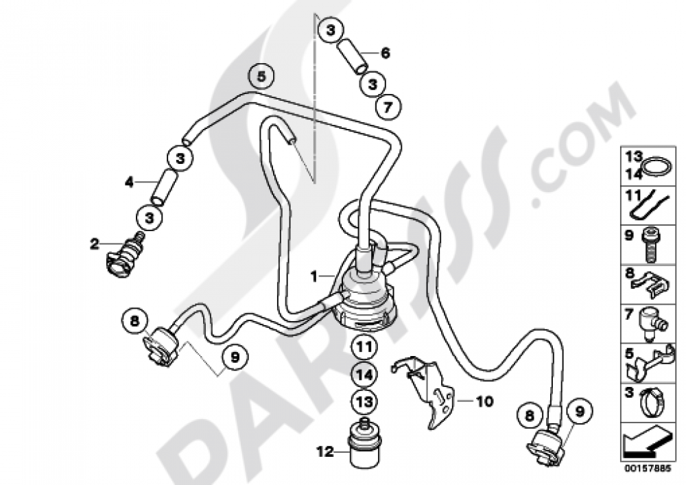 FUEL DISTRIBUTORPRESSURE REGULATOR Bmw R1200GS R1200GS 2005-2007 (K25)