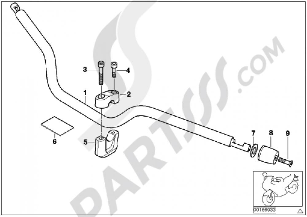 HANDLEBAR Bmw R1200GS R1200GS 2005-2007 (K25)