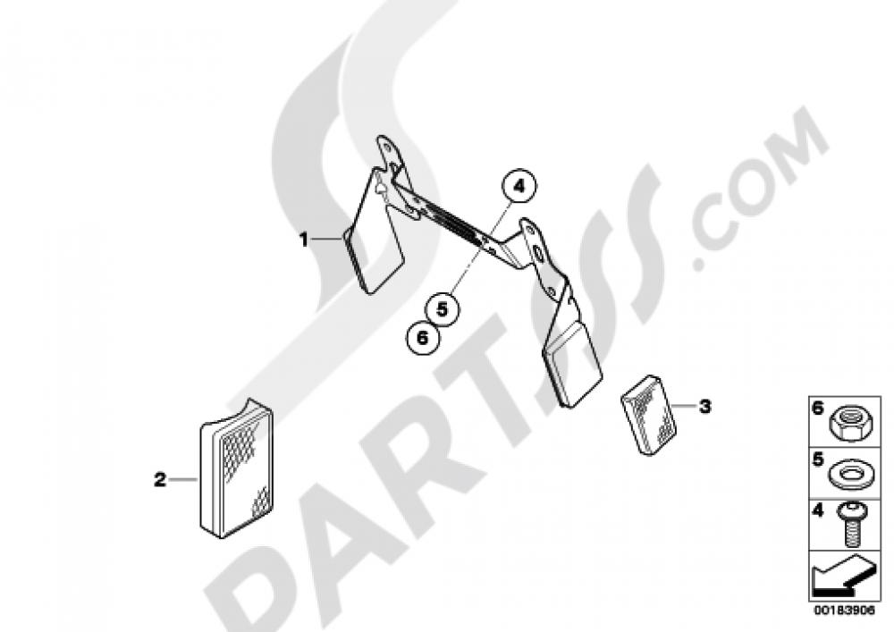 LICENSE PLATE BRACKET US  REFLECTORS Bmw R1200GS R1200GS 2005-2007 (K25)