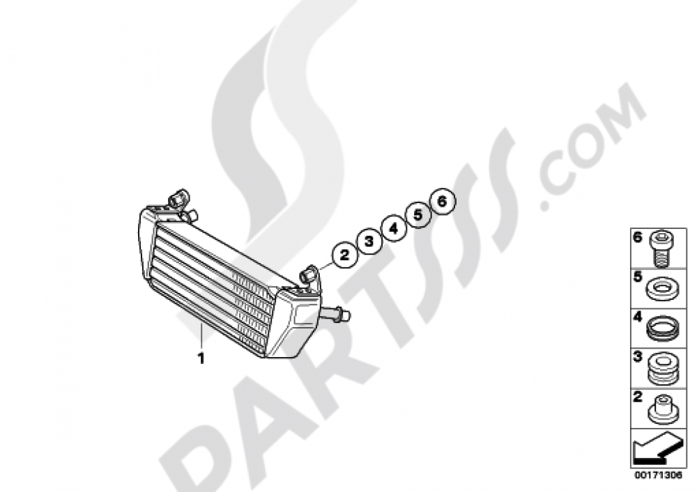 OIL COOLER Bmw R1200GS R1200GS 2005-2007 (K25)