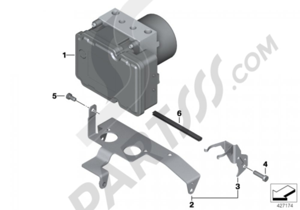 PRESSURE MODULATOR I-ABS GENERATION 2 Bmw R1200GS R1200GS 2005-2007 (K25)