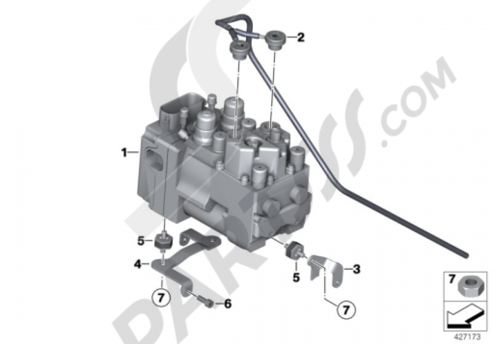 PRESSURE MODULATOR INTEGRAL ABS Bmw R1200GS R1200GS 2005-2007 (K25)