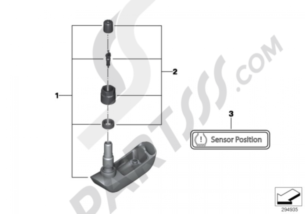 RDC SENSOR FOR FRONT WHEEL Bmw R1200GS R1200GS 2005-2007 (K25)