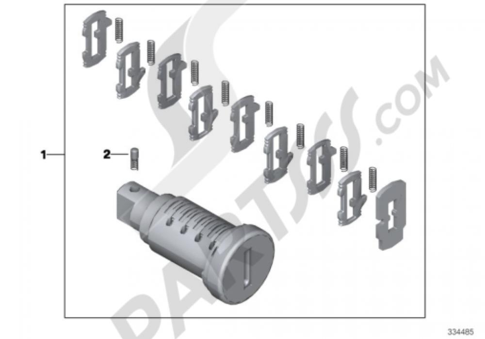 REP.KIT F LOCK CYLINDER Bmw R1200GS R1200GS 2005-2007 (K25)