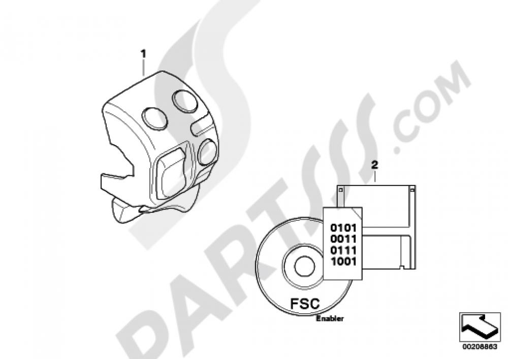 RETROFIT ASC Bmw R1200GS R1200GS 2005-2007 (K25)