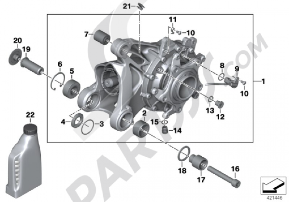 RIGHT-ANGLE GEARBOX INTEGRAL ABS GEN. 1 Bmw R1200GS R1200GS 2005-2007 (K25)