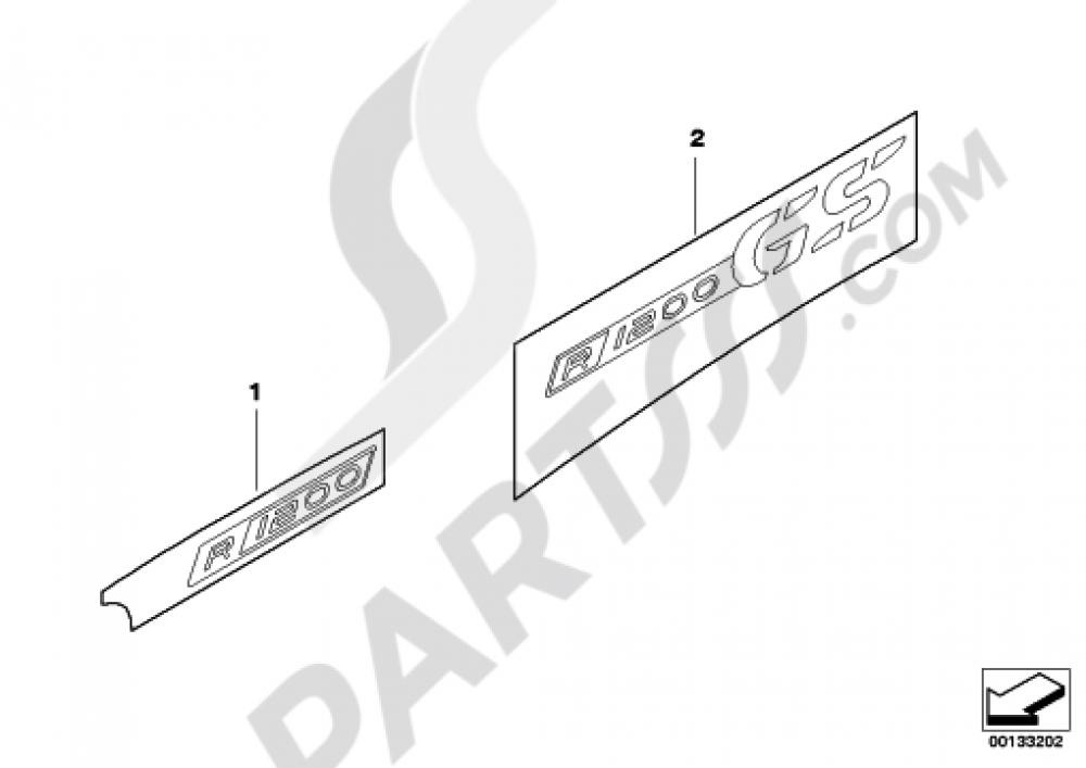 STICKER Bmw R1200GS R1200GS 2005-2007 (K25)