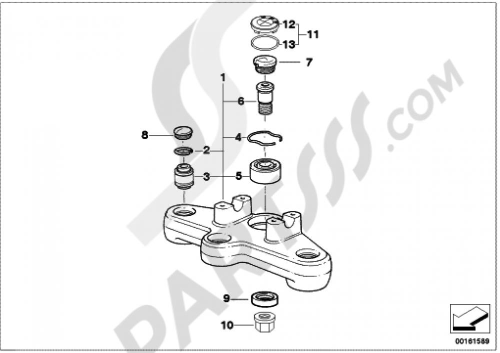 UPPER FORK CROSS BRACE Bmw R1200GS R1200GS 2005-2007 (K25)