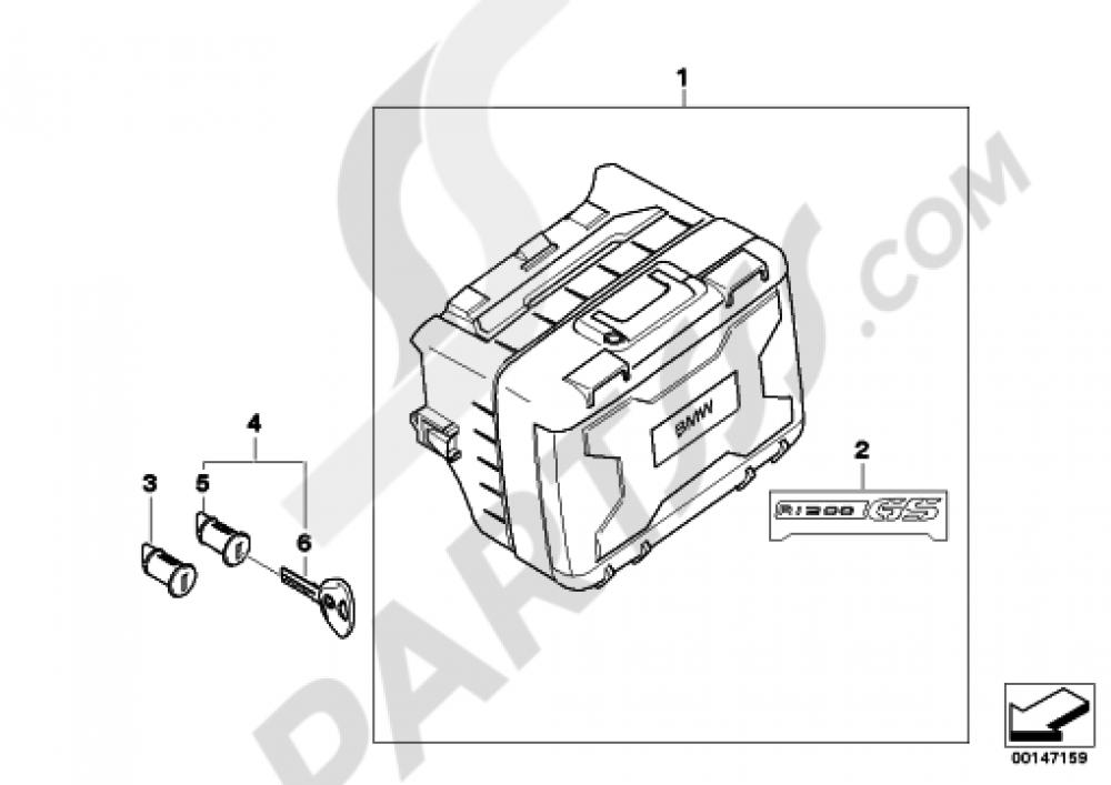 VARIO CASE Bmw R1200GS R1200GS 2005-2007 (K25)