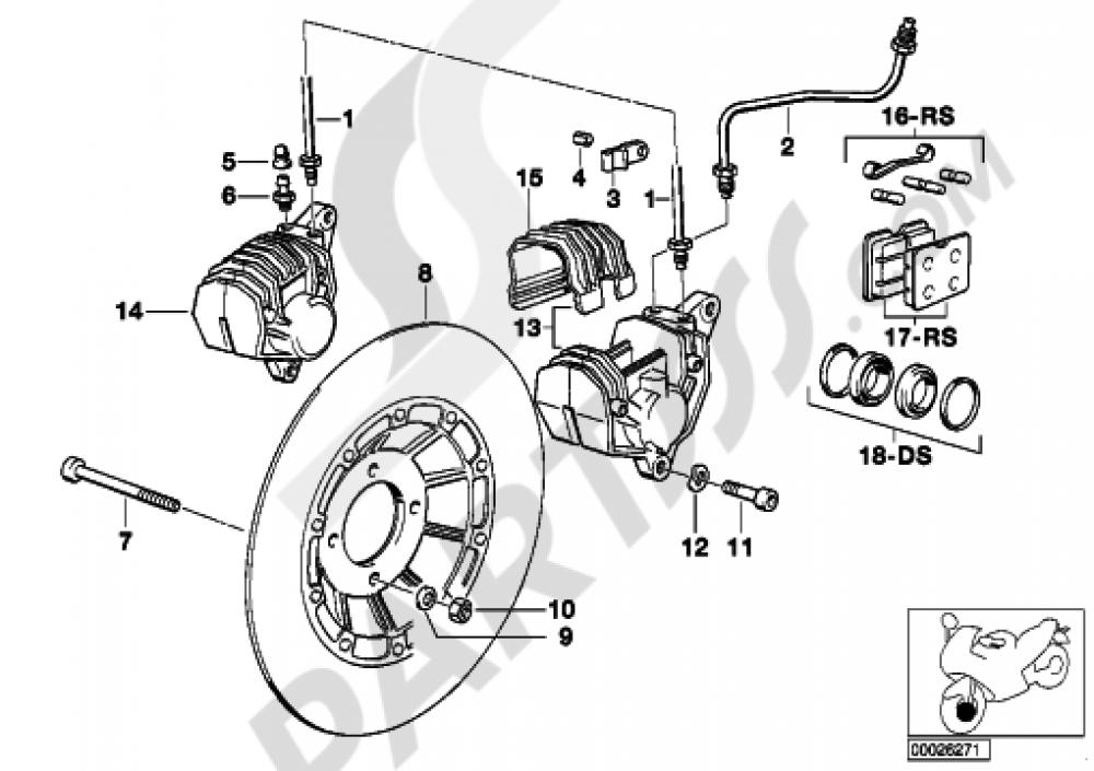 Front Wheel Brake Bmw R65 R65 2472