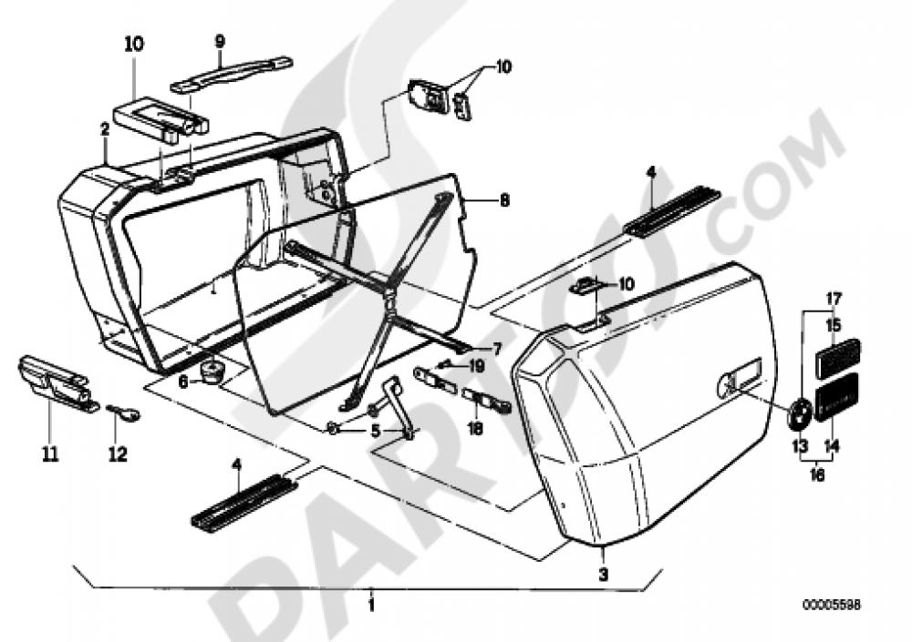 Integral Case Bmw R65 R65 2472