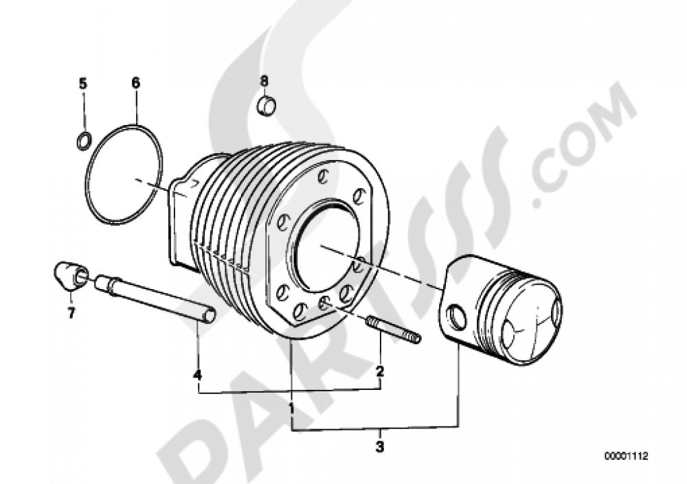 Cylinder Bmw R65 R65 248