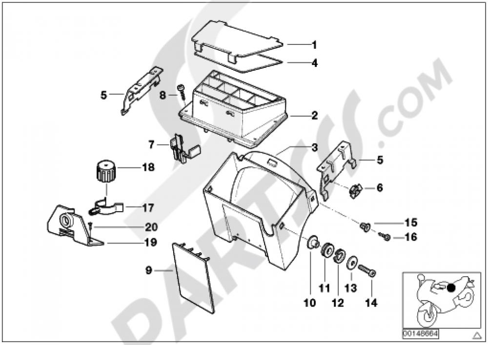 WIRING BOXFUXE BOXMOUNTING PARTS Bmw R850R R850R (259R)
