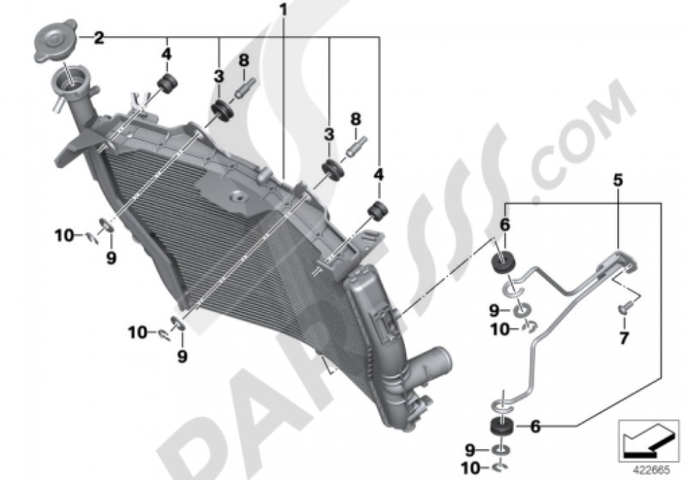 RADIATOR Bmw S1000RR 2014-2015 (K46)