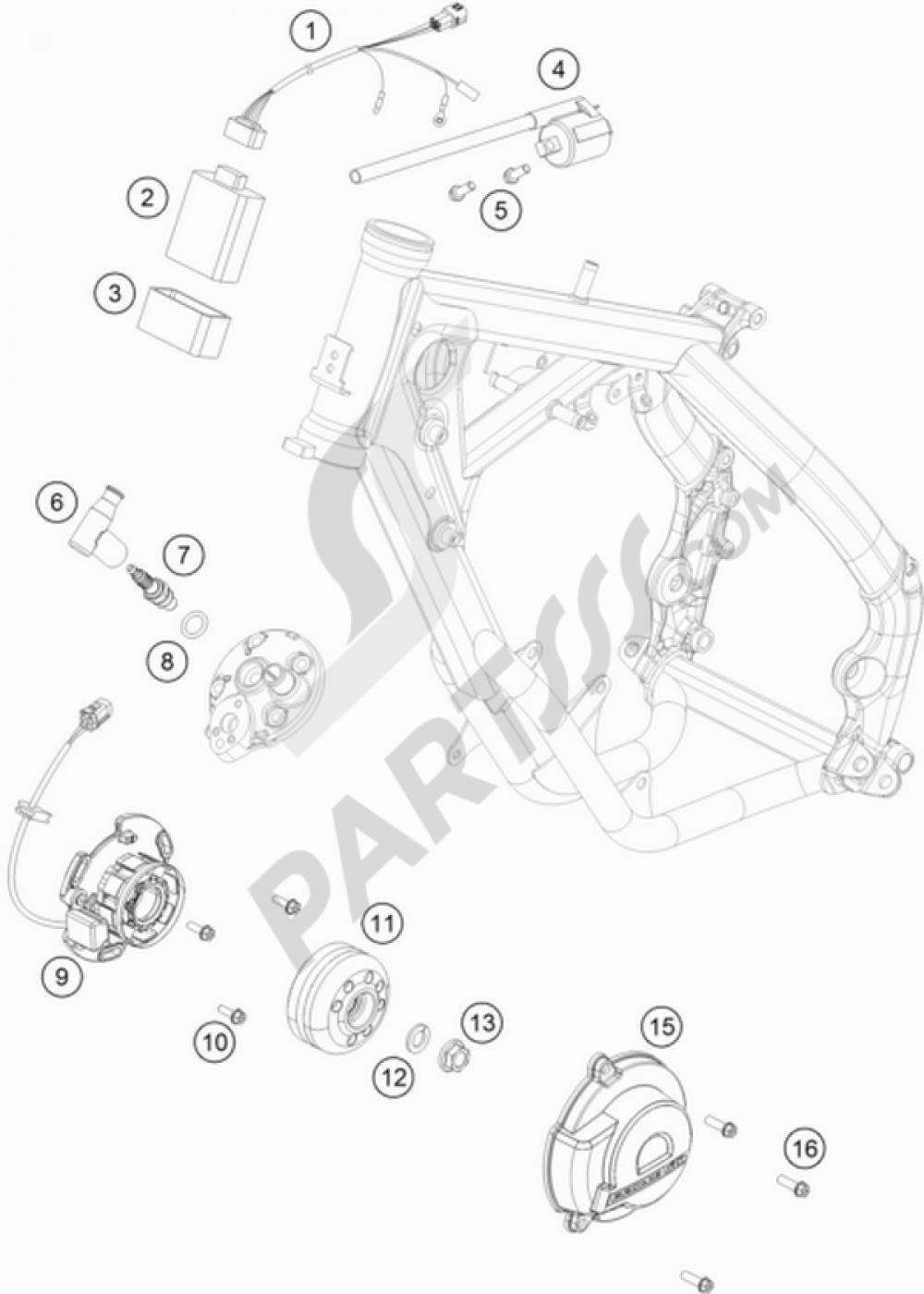 ignition system ktm 65 sx 2016 eu