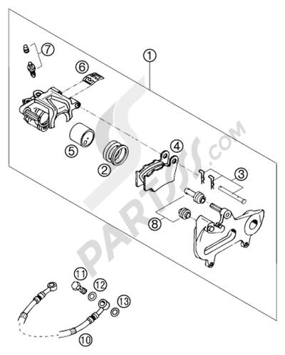 KTM 125 SX 2003 EU Dissassembly sheet  Purchase genuine spare parts