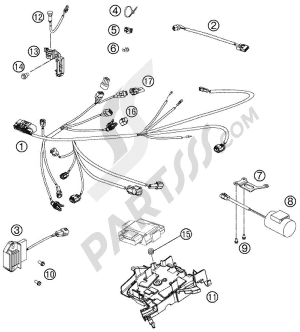 Wiring Harness Ktm 250 Sx F Musquin Replica 2011 Eu