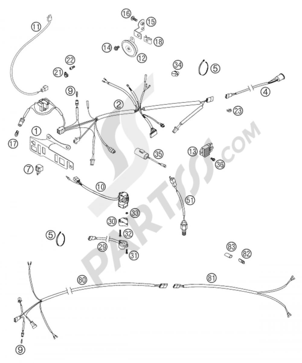 Ktm 250 Exc Wiring Harness Electrical Diagrams Sxf Diagram 125 300 Six Days 2004 Eu 350 Rally Conversion