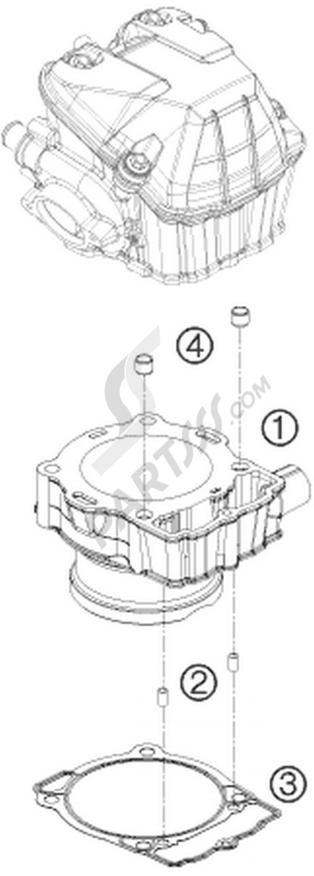 cylinder ktm 450 exc
