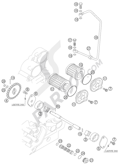 Ktm 450 Exc Racing 2007 Eu Dissassembly Sheet Purchase Genuine