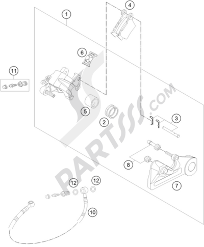 Ktm 450 Exc 2015 Eu Dissassembly Sheet Purchase Genuine Spare Parts