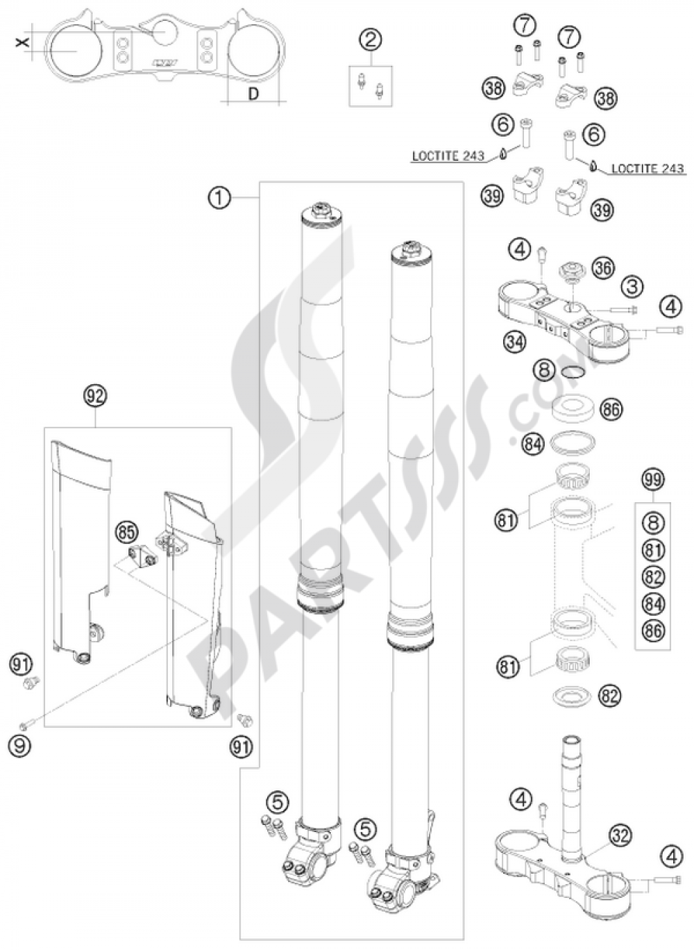 ktm 450 exc 2015 parts manual Pioneer Avh -X491bhs Wiring-Diagram ktm powerparts array front fork triple cl ktm 450 exc six days 2015 eu rh partsss