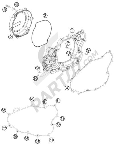 KTM 450 EXC-R SIX-DAYS 2008 EU CLUTCH COVER