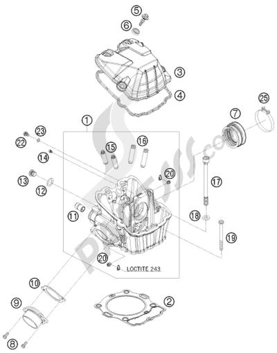 KTM 450 EXC-R SIX-DAYS 2008 EU CYLINDER HEAD