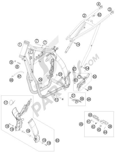 KTM 450 EXC-R SIX-DAYS 2008 EU FRAME