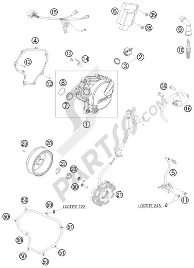 KTM 450 EXC-R SIX-DAYS 2008 EU IGNITION SYSTEM