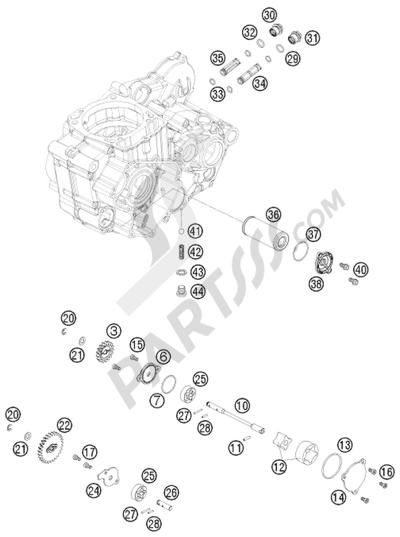 KTM 450 EXC-R SIX-DAYS 2008 EU LUBRICATING SYSTEM