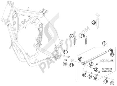 KTM 450 EXC-R SIX-DAYS 2008 EU SIDE / CENTER STAND
